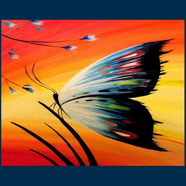 Élményfestés pillangó