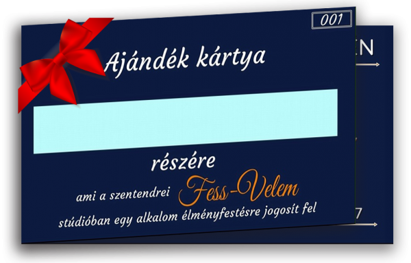 élményfestésre ajándék kártya